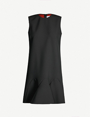 VICTORIA VICTORIA BECKHAM Ruffled-hem woven dress