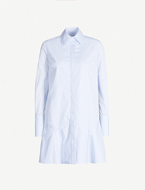 VICTORIA VICTORIA BECKHAM Striped cotton mini shirt dress