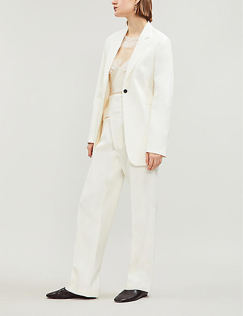 VICTORIA BECKHAM Single-breasted cotton-blend twill blazer