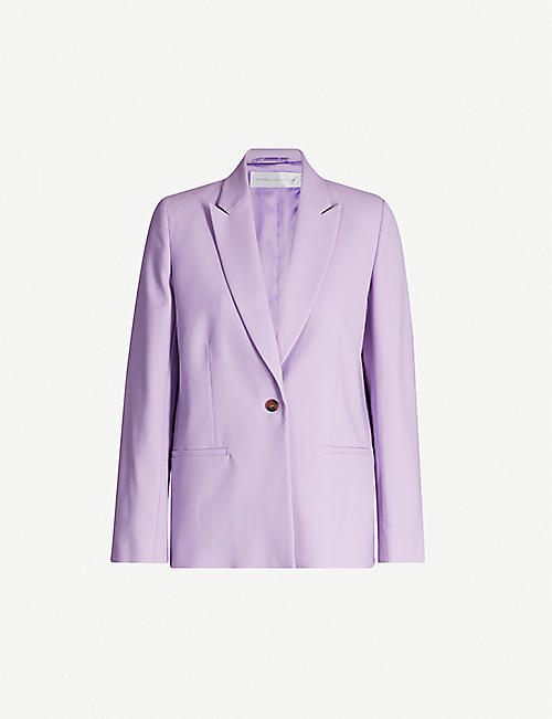 VICTORIA VICTORIA BECKHAM Single-breasted twill blazer