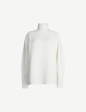 VICTORIA VICTORIA BECKHAM Turtleneck ribbed wool jumper