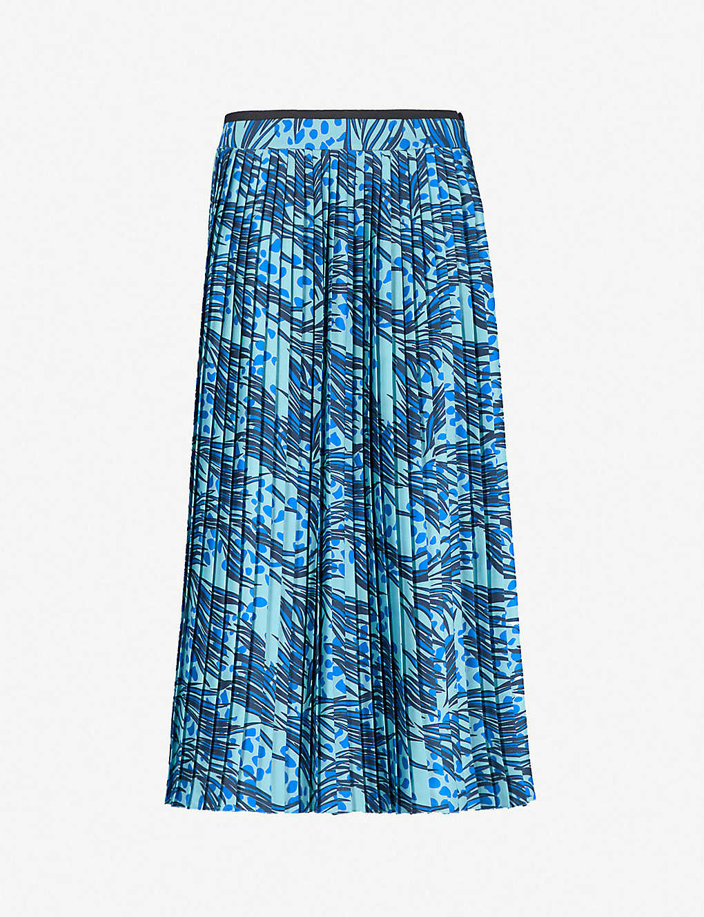 0905be5c7e VICTORIA VICTORIA BECKHAM - Grass-print pleated satin midi skirt ...
