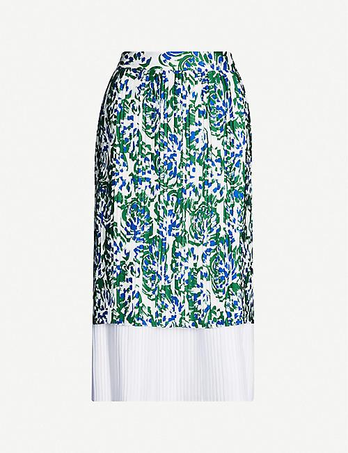 3313b1630 VICTORIA VICTORIA BECKHAM Abstract-print layered crepe skirt