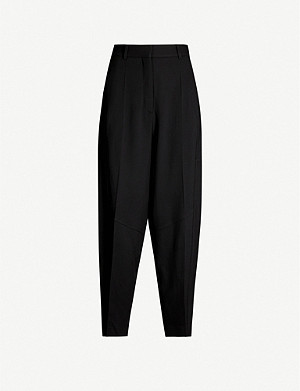 VICTORIA BECKHAM Rebecca relaxed-fit tapered wool-twill trousers
