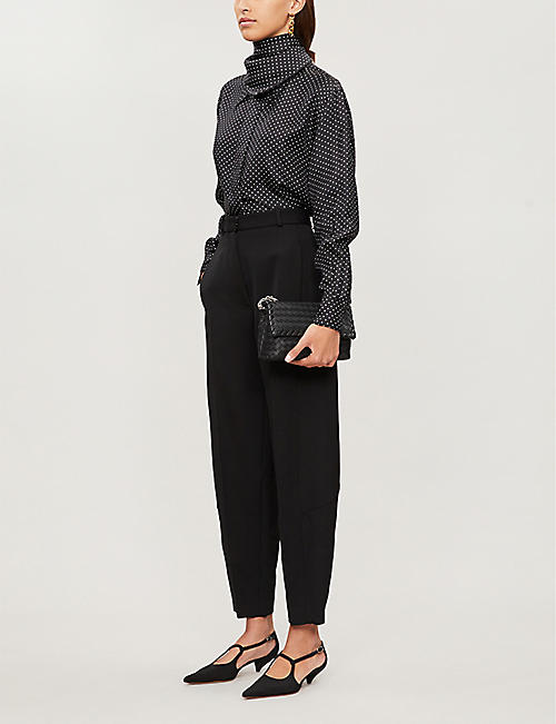 VICTORIA BECKHAM Straight wool trousers