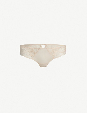 SIMONE PERELE Promesse lace and tulle tanga briefs
