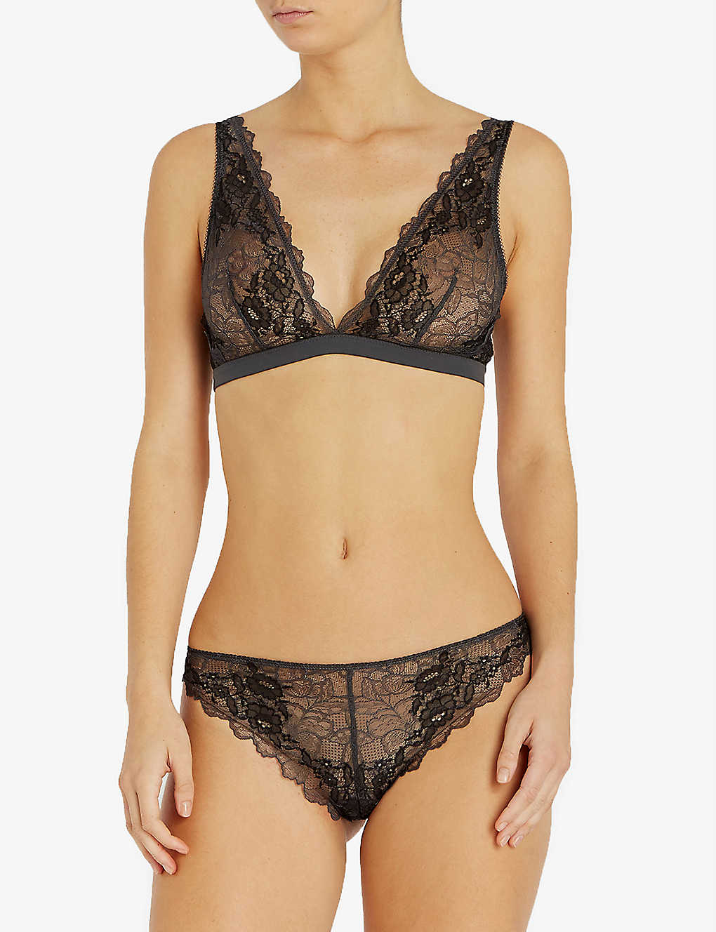 WACOAL: Lace Perfection stretch-lace bralette