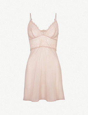 WACOAL Lace Perfection stretch-lace and mesh chemise