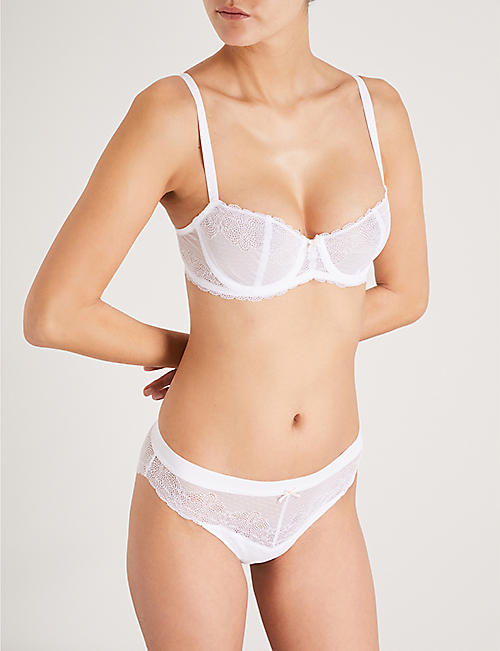 CHANTELLE Le Marais stretch-lace half-cup bra
