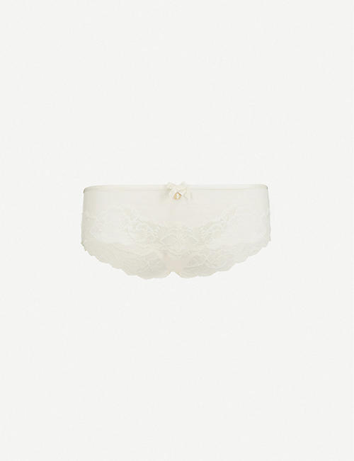 CHANTELLE: Orangerie mesh and lace hipster briefs