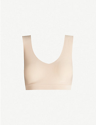 CHANTELLE: Soft stretch V-neck stretch-jersey bra