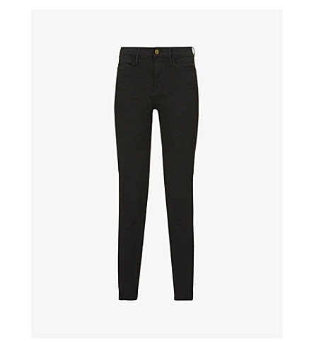 14a7258d991 FRAME Le High Skinny high-rise jeans (Film+noir