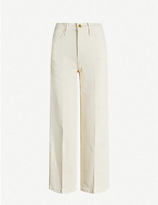 FRAME: Ali cropped high-rise wide-leg jeans