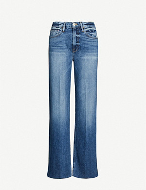 FRAME Le California wide-leg high-rise jeans