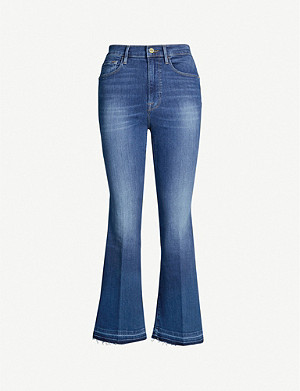 FRAME Flared cropped mid-rise jeans