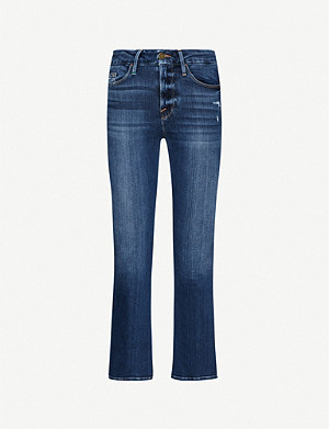 FRAME Le Crop Mini Boot bootcut high-rise jeans