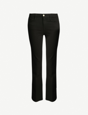 FRAME Le Crop Flare high-rise flared jeans