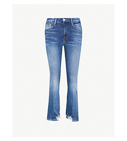 75ed53f86a398 ... FRAME Le Crop Mini Boot mid-rise slim-fit jeans (Clappson. PreviousNext