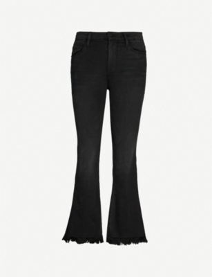FRAME Le Crop Mini Boot mid-rise faded flared jeans