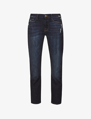 FRAME Garcon crop stretch-denim jeans