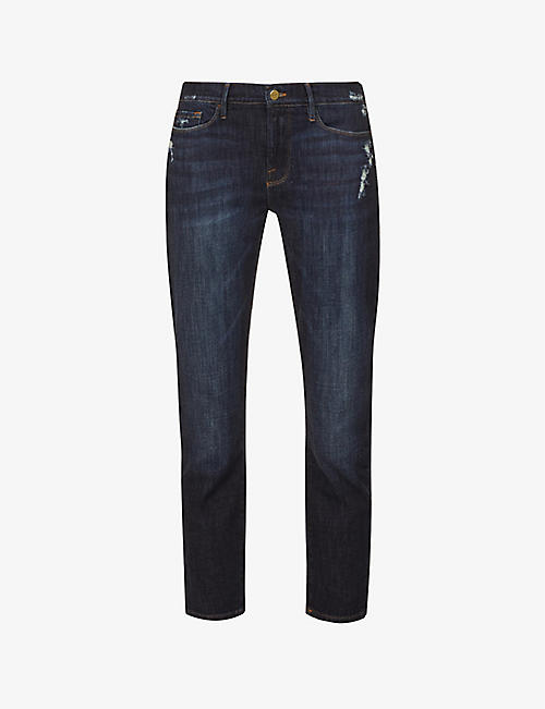 FRAME: Garcon crop stretch-denim jeans