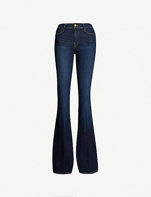 FRAME: Le High Flare mid-rise jeans