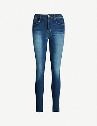 FRAME: Columbia Road high-rise skinny jeans