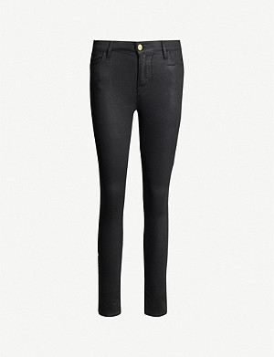 FRAME Le High Skinny coated skinny high-rise jeans