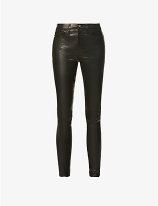 FRAME: Le High Skinny leather trousers