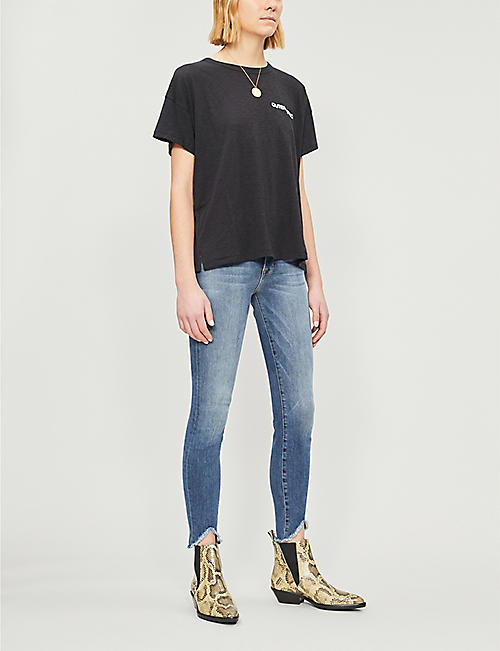 FRAME Le High faded skinny jeans