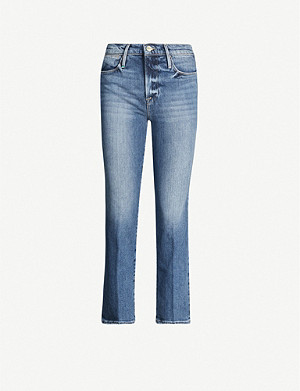 FRAME Le High Straight high-rise denim jeans