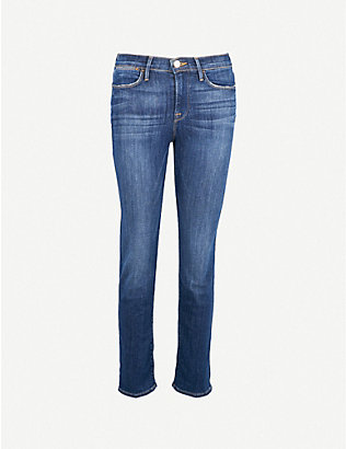 FRAME: Le High straight slim-fit jeans