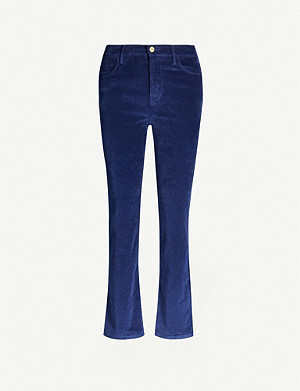 FRAME Le High Straight velvet jeans