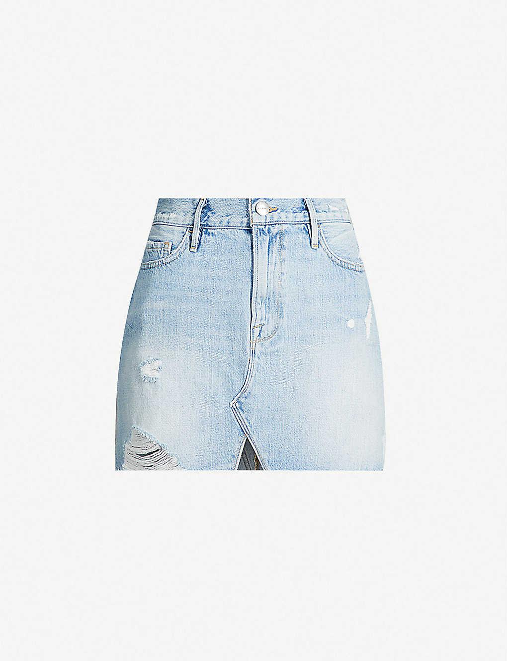 0d0cc7e36 FRAME - Le Mini high-waist ripped denim mini skirt | Selfridges.com
