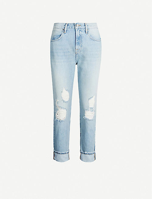 697f16b48f FRAME Le Pegged high-rise faded straight-leg jeans