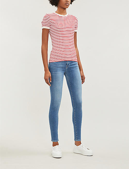 FRAME Le Skinny De Jeanne slim-fit straight high-rise jeans