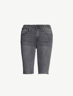 FRAME Le Vintage Bermuda stretch-denim shorts