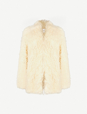 FRAME Double-breasted faux-fur coat