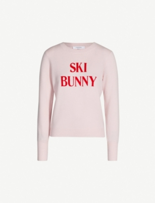 FRAME Ski Bunny-intarsia wool and cashmere-blend jumper