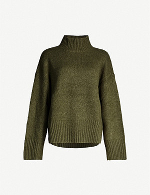 FRAME Turtleneck wool-blend jumper