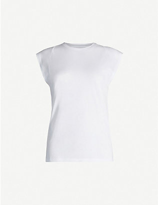 FRAME: Le Mid Rise Muscle Tee cotton-jersey T-shirt