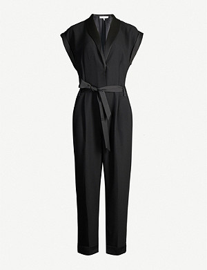 FRAME Wrap-over crepe jumpsuit