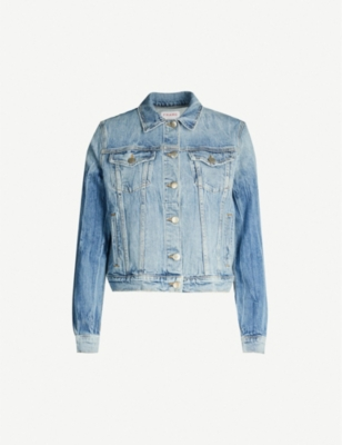 FRAME Herita faded denim jacket