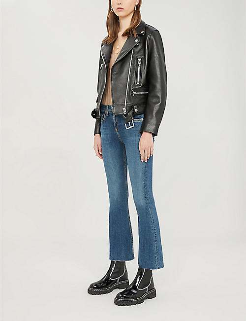 RAG & BONE Crop high-rise flared jeans