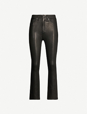 RAG & BONE Hana mid-rise straight leather trousers