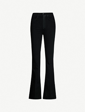 RAG & BONE Bella high-rise split-cuff flared jeans