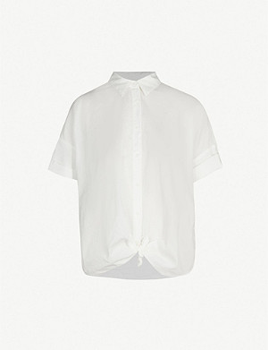 bdfb9cf999389 RAG   BONE - Victor striped sleeveless silk blouse