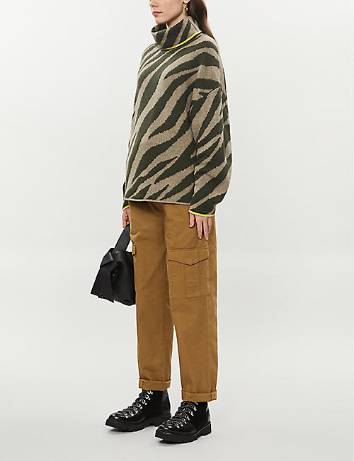 RAG & BONE Animal-print stretch-knit jumper