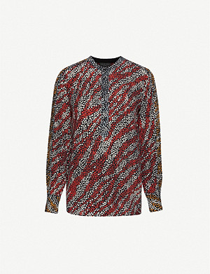 RAG & BONE Colette graphic-print silk blouse