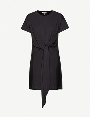 RAG & BONE Aimie tie-front cotton-jersey mini dress
